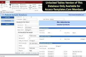 Download Access Sample Database For This Templates 2016