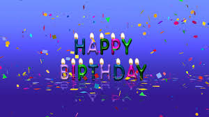 Animated Free Download Colorful Happy Birthday Animation Video Free Download Youtube