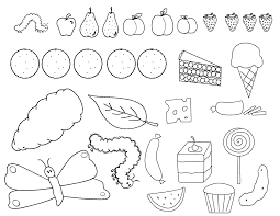 Very Hungry Caterpillar Coloring Pages Printable
