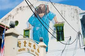 kungfu girl one of the more popular street art pieces in george town penang  on famous wall art in penang with george town the unexpected street art hub of southeast asia