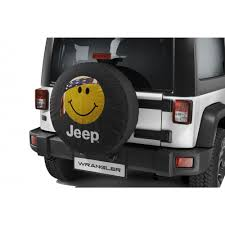 Jeep Smiley Face Lights Spare Tire Cover Wrangler Car Accessories