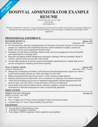 Hospital Administrator Resume Resumecompanion Medical Delectable Resume For Hospital Job