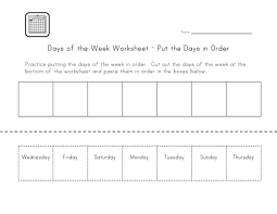 Days of the Week Worksheets | Loving Printable