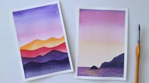ART#14| Vẽ tranh phong cảnh bằng màu nước | Watercolor Tutorial| Landscape  | Tổng hợp những bức tranh đẹp nhất