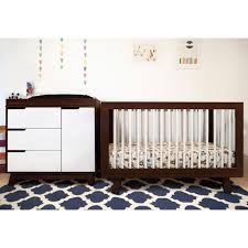 babyletto hudson in convertible crib in two tone espresso and