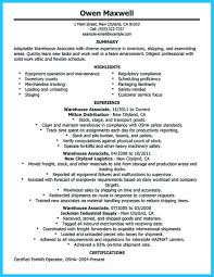 Warehouse Worker Resume Sample Resume Online Builder