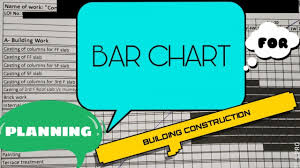 Bar Chart For Building Construction How To Make Bar Chart Or Gantt Chart For Construction Projects