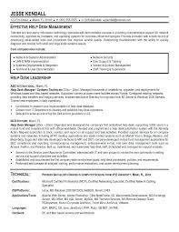 Desktop Support Resume Examples Custom Resume Samples For Service Desk And Help Desk Manager Resume The