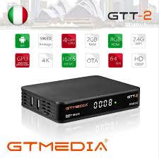 GTMEDIA GTT2 Android 6.0 TV BOX DVB T2/Cable/ISDBT/ATSC C 2GB 8GB With Wifi  H.265 4K Set Top Box GTT2 DVB T2 TV Box Led Projectors Best Projectors From  Milike, $56.29