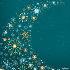 Green Christmas Winter Holiday Background Snowflake Vector