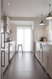london colored subway tile with contemporary wall and floor tiles kitchen galley handmade in the uk