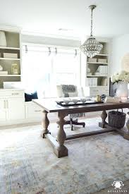 gray home office. Large Home Office Desk Elegant Design With A Neutral Palette Of White Gray And .