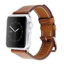 42mm black brown leather watch strap watch band for apple watch 42mm