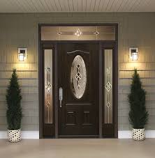 front door with sidelitesFront Doors with Sidelights and Transoms  Feldco