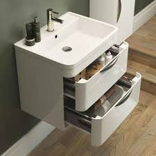 harbour grace 600mm wall mounted vanity unit basin in gloss white