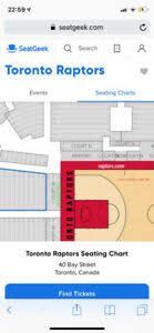 Raptors Courtside Seating Chart Toronto Raptors Seating Chart With Rows News Today