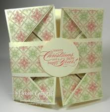 fold card dawns stamping studio napkin fold card video