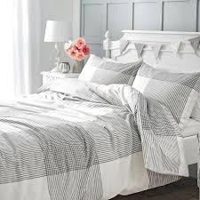 grey check brushed cotton duvet set