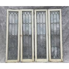 pair of antique leaded glass cabinet doors pertaining to prepare 11