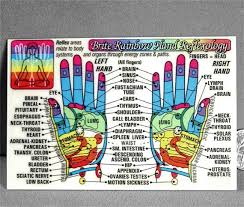 Coded Hand Reflexology Acupressure Laminated Wallet Card Chart Pocket Guide Mint C9737