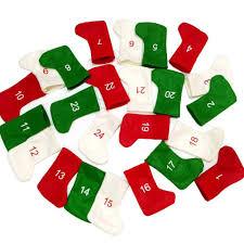 24 Giorni di Conto alla rovescia Calendario dellAvvento di Natale in Feltro  Banner Garland Calze Calzini della novità per Il Natale Decorazioni della  Festa Addobbi e decorazioni per ricorrenze Decorazioni natalizie