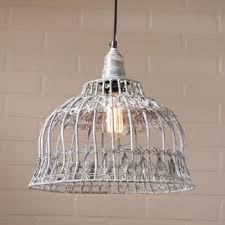 primitive lighting fixtures. Flower Industrial Cage Wire Pendant Light In Weathered Zinc Finish Primitive Lighting Fixtures