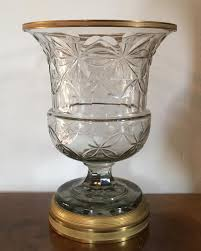 anglo irish cut crystal urn mounted with french gilt bronze collar and base