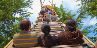 people ride the panoramic wheel at gilroy gardens in gilroy california image