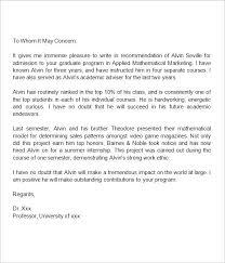 Recommendation Letter For Graduate School Graduate School ...