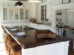 ... Classic White Kitchen Wood Countertops ...