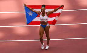 Jasmine Camacho-Quinn wins gold in 100M ...