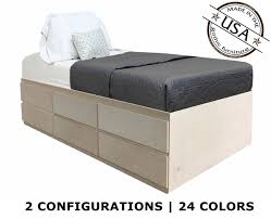 twin storage bed. Fine Bed Extra Long Twin Storage Bed  Birch Wood Inside