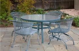 Vintage Woodard Patio Furniture Vintage Woodard Wrought Iron Patio