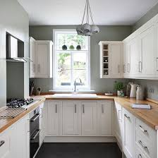 home office country kitchen ideas white cabinets. Interesting Country White Kitchen With Grey Walls White Cabinetry And Wood Worktops Throughout Home Office Country Kitchen Ideas Cabinets D
