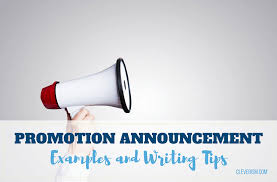 Employee Promotion Announcement Template Inspiration Promotion Announcement Examples And Writing Tips