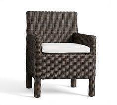 O Outdoor Dining Furniture  Torrey SquareArm Dining Chair Cushion Slipcover  SunbrellaR Silver