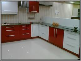 kitchens remarkable modular kitchen design idea with red white kitchen cabinet orange white wall with striped
