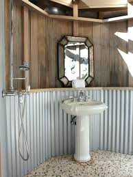 corrugated metal shower ideas pictures remodel and decor walls panels for