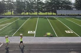 artificial football turf. TPK Inc. Employees Began Installing New Artificial Turf At Jerry Brewer Alumni Stadium In Jasper On Friday And Continued Laying Monday Morning. Football