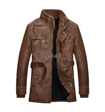 men s vintage stand collar velvet faux leather motorcycle jacket coats