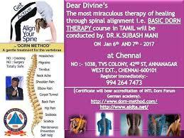 Dorn Method Chart Dorn Basic Workshop Chennai At Chennai Events High