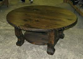 wood round coffee table western coffee table round western rustic coffee and end tables rustic round