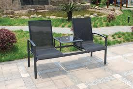 metal outdoor furniture uk. royalcraft sorrento companion seat (black) metal outdoor furniture uk y