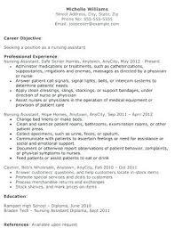 Cna Experience Cv Resume Templates Free Nursing Assistant The