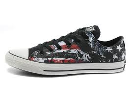 converse all star black. stylish converse american flag all star black red white graffiti print chuck taylor low tops canvas