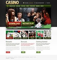 Online Casino Psd Template 56791