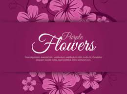 Purple Flowers Backgrounds Purple Flowers Vector Graphic Free Vector Background Download