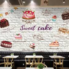 3d Stereo Bread Cake Wallpaper Dessert Ice Cream Coffee And Bakery
