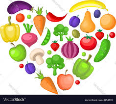 fruit and vegetables heart. Modren Heart Fruits And Vegetables Heart Vector Image Intended Fruit And Vegetables Heart E