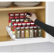 Tiered Shelves For Cabinets Youcopia Spice Steps 4 Tier Cabinet Spice Rack Organizer Reviews